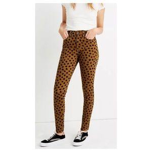 """Madewell 10"""" Mid-Rise Skinny Jeans Spots 28 NWT"""